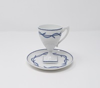 Paire tasse collector Giraud sur pied décor ronce 40 euros